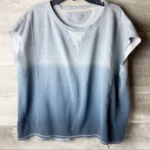 Calvin Klein ombré knit shortsleeve active sweater